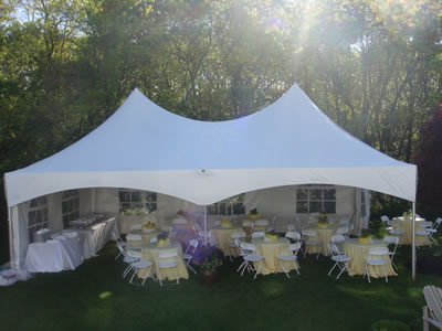 20 x 30 Double Peak Marquee Tent from Always Invited Event Rentals & Tent Rental Courtenay | Vancouver Island Tent Rental Service