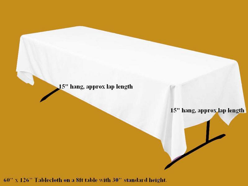 What Size Tablecloth Do I Need For 8ft Table 100